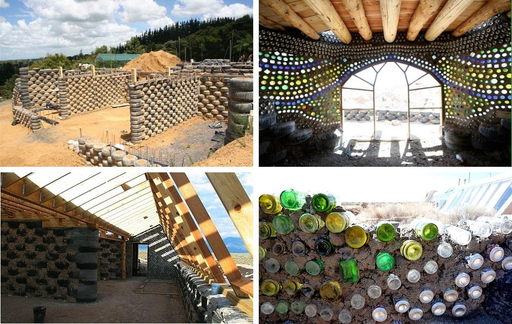 earthship ou geonef mode constructif ecologique en materiaux recycles sustainable earthship. Black Bedroom Furniture Sets. Home Design Ideas
