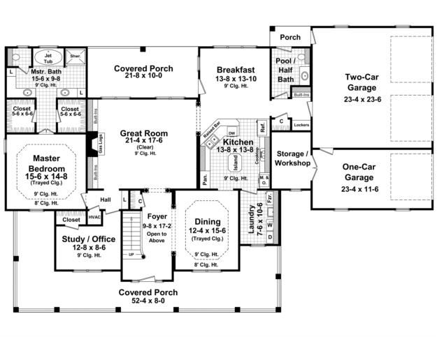 House Plan 348 00163 Farmhouse Plan 3 000 Square Feet 4 Bedrooms 3 5 Bathrooms Country Style House Plans Country Farmhouse House Plans House Floor Plans