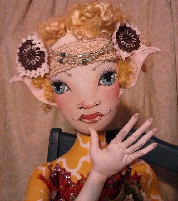 Digital Sewing Pattern OOAK Art Doll Fairy Home Decor PDF Download