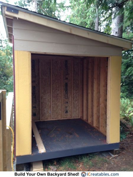 8x8 lean to shed door opening - Garden Sheds 8x8