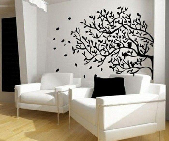 120 Wohnzimmer Wandgestaltung Ideen! | Wandgestaltung ideen ...