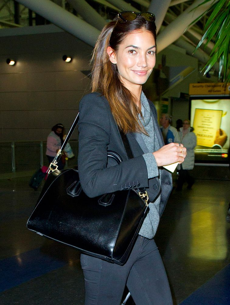 1955e5b1af9 Just Can't Get Enough: Lily Aldridge and Her Givenchy Antigona Bag ...