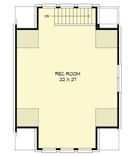 Plan 68447VR Detached Garage With Rec Room And Office Detached