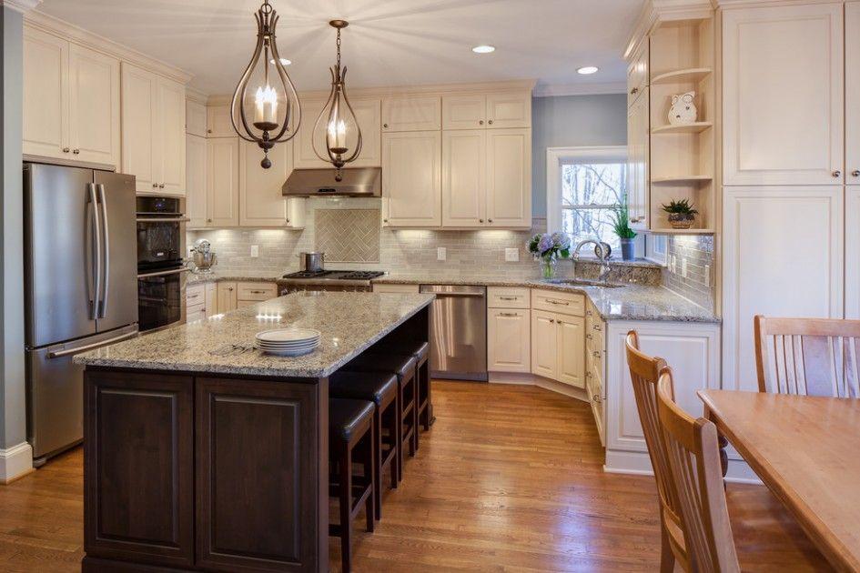 Samsung Kitchen Appliance Suites With Cream Wooden Kitchen Cabinet