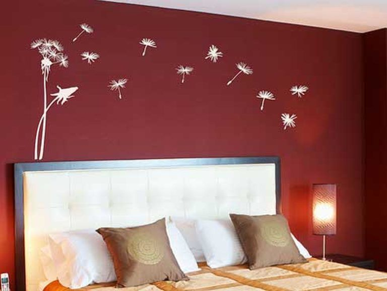 31 Elegant Wall Designs To Adorn Your Bedroom Walls Red Bedroom Walls Bedroom Wall Designs Bedroom Wall Paint