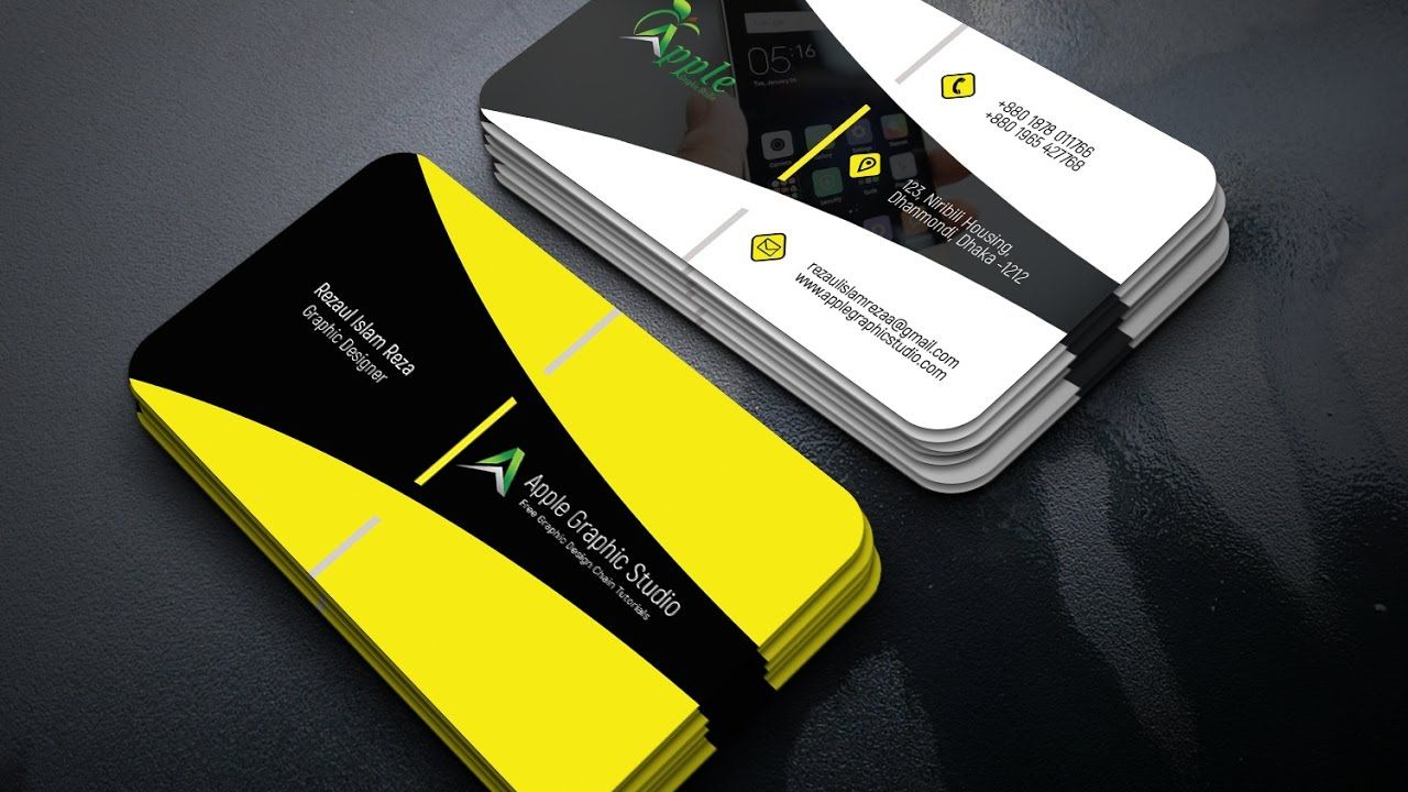 Corporate Business Card Design Tutorial in Photoshop | Business Card ...