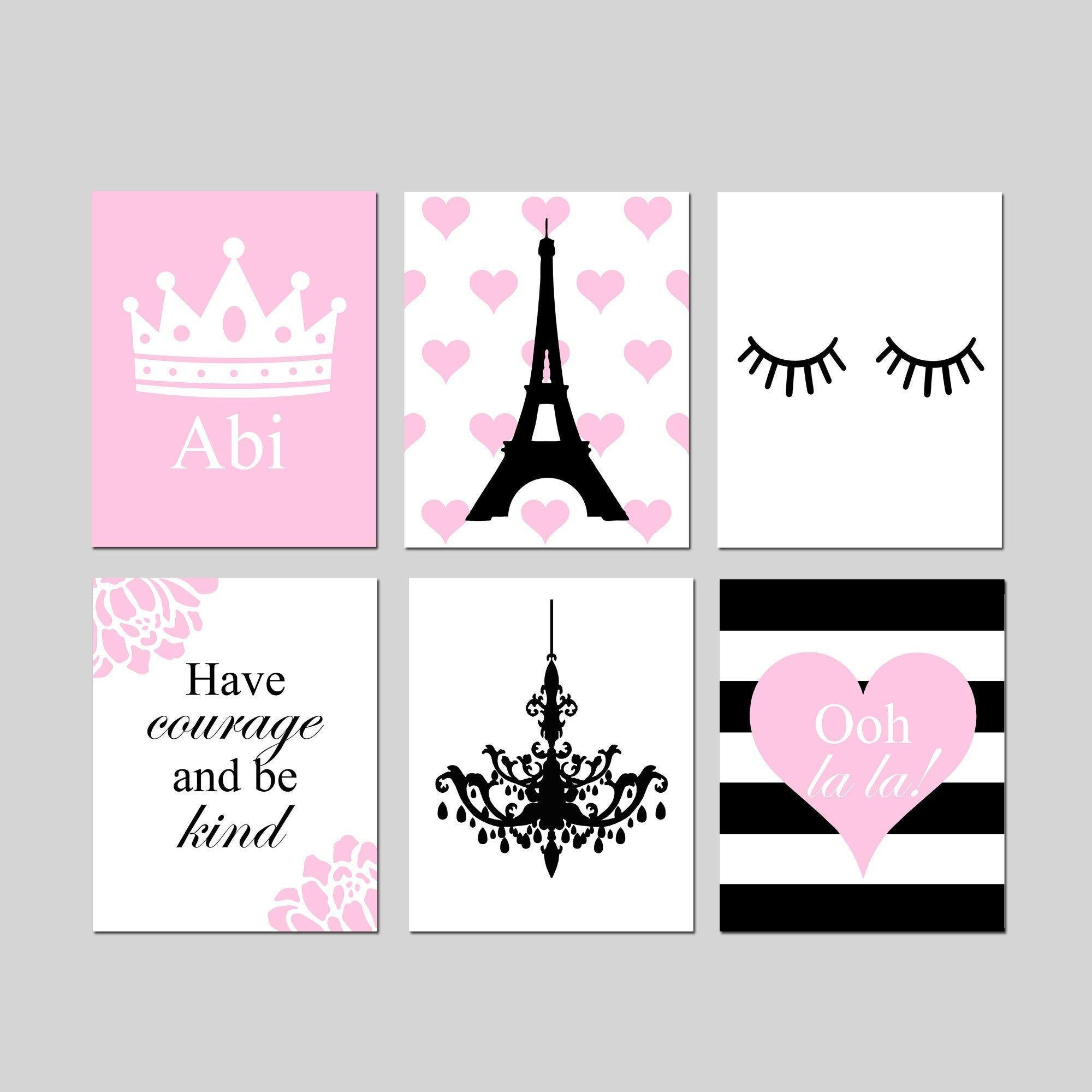 Paris Wall Art Pink Paris Wall Art Girls Room Decor Paris Girl Etsy Paris Girl Bedroom Decor Paris Girls Bedroom Girls Room Wall Art