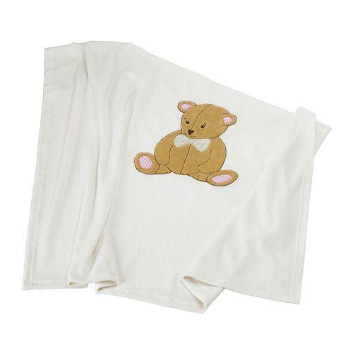 ikea couverture bébé BRUMBJÖRN Blanket, white, beige   Couverture bébé, La couverture  ikea couverture bébé