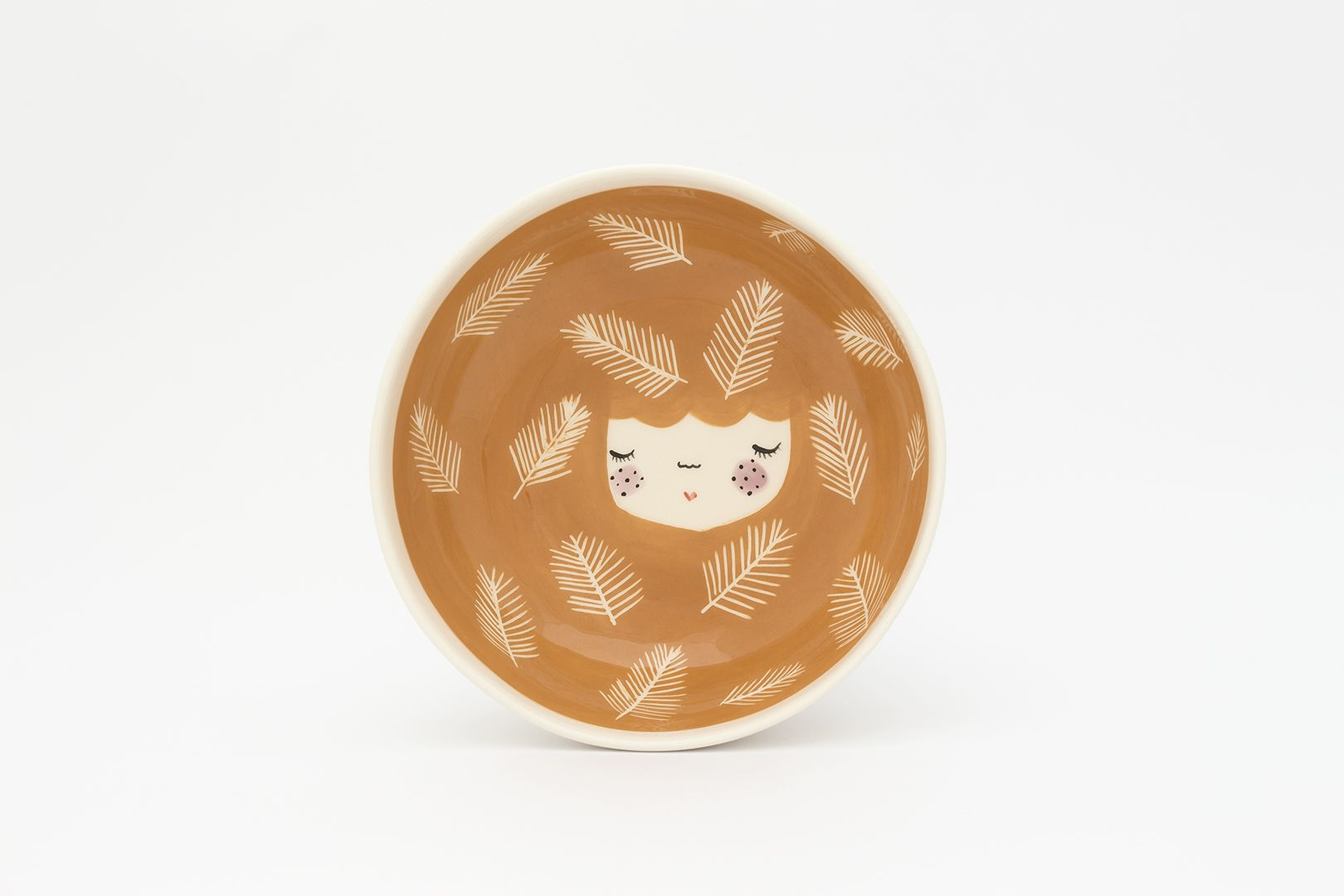 HoneyBun Bowl with Pine Leaves