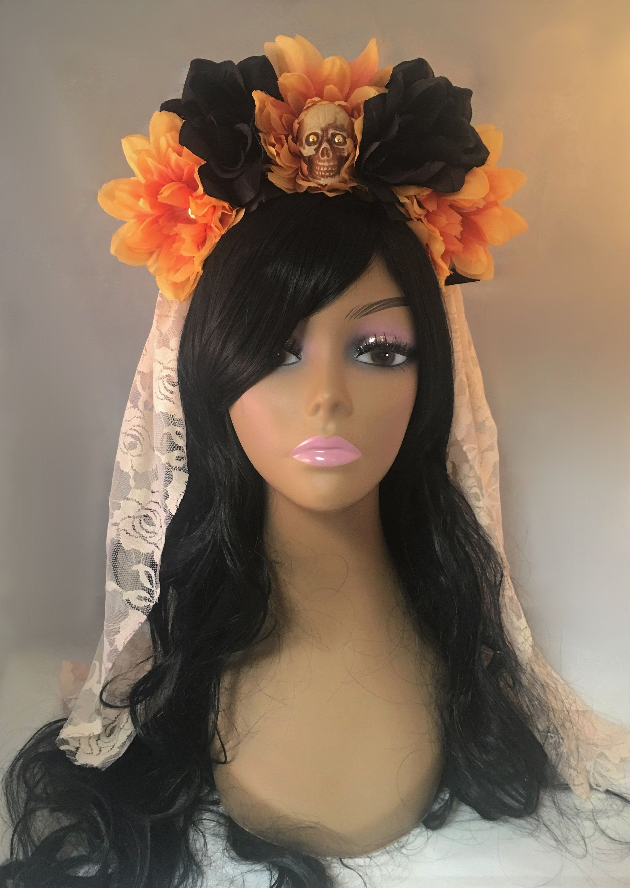 Flower Crown, Rose Skull Crown, Veiled Headband, Flower Head Wreath, Floral Headpiece, Floral Crown, Day of the Dead Flower Crown, Halloween #flowerheadwreaths Flower Crown, Rose Skull Crown, Veiled Headband, Flower Head Wreath, Floral Headpiece, Floral Crown, Day of the Dead Flower Crown, Halloween #flowerheadwreaths