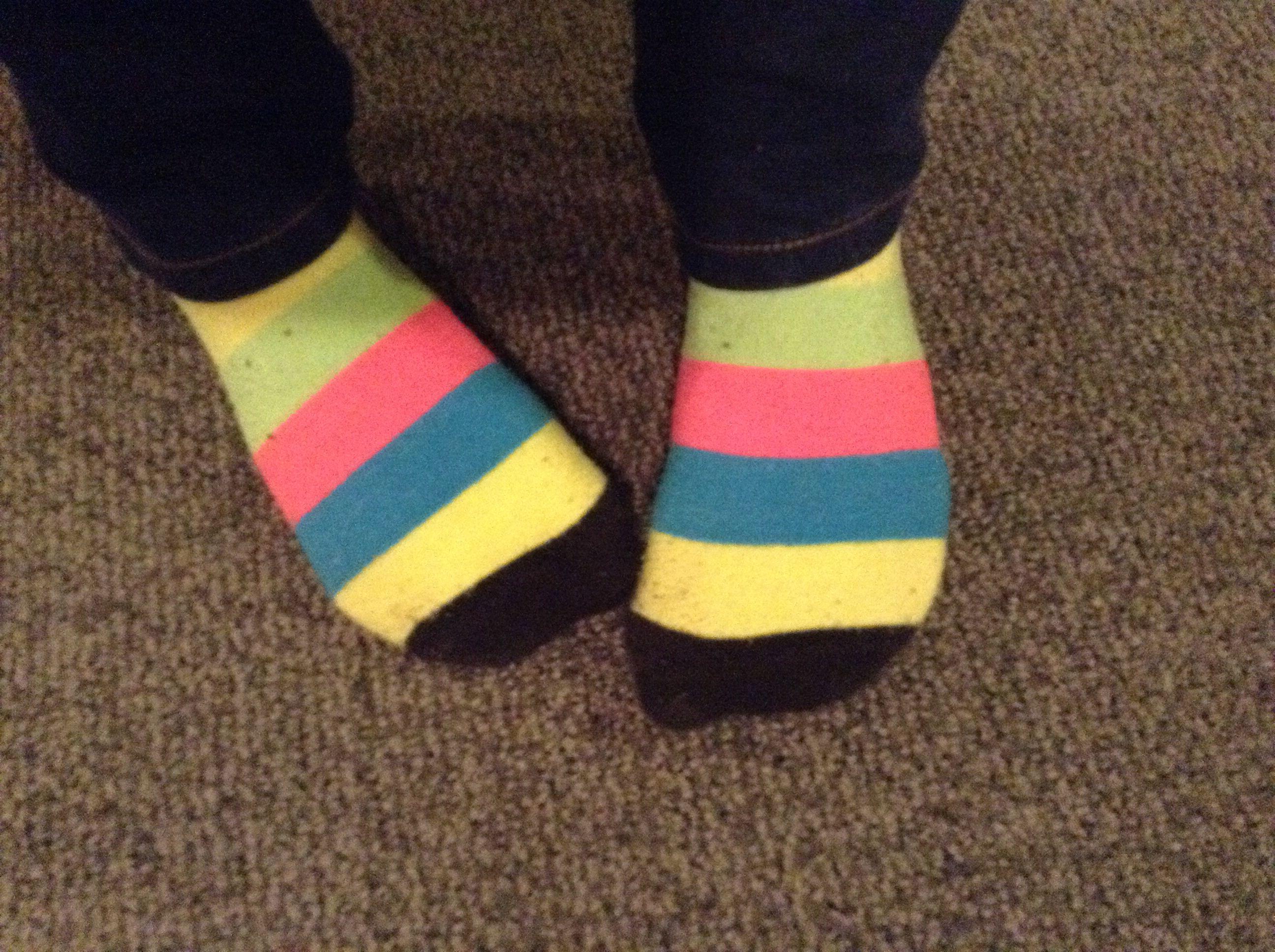 Today IM actually wearing matching socks !!!!