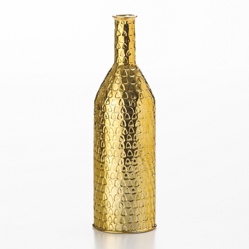 Vaso Cerâmica Dourado 35 Cm