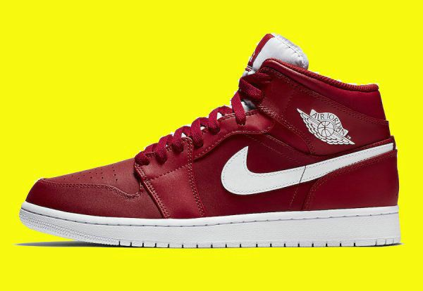 Discount 2017 Air Jordan 1 Mid Gym Red White-White For Sale