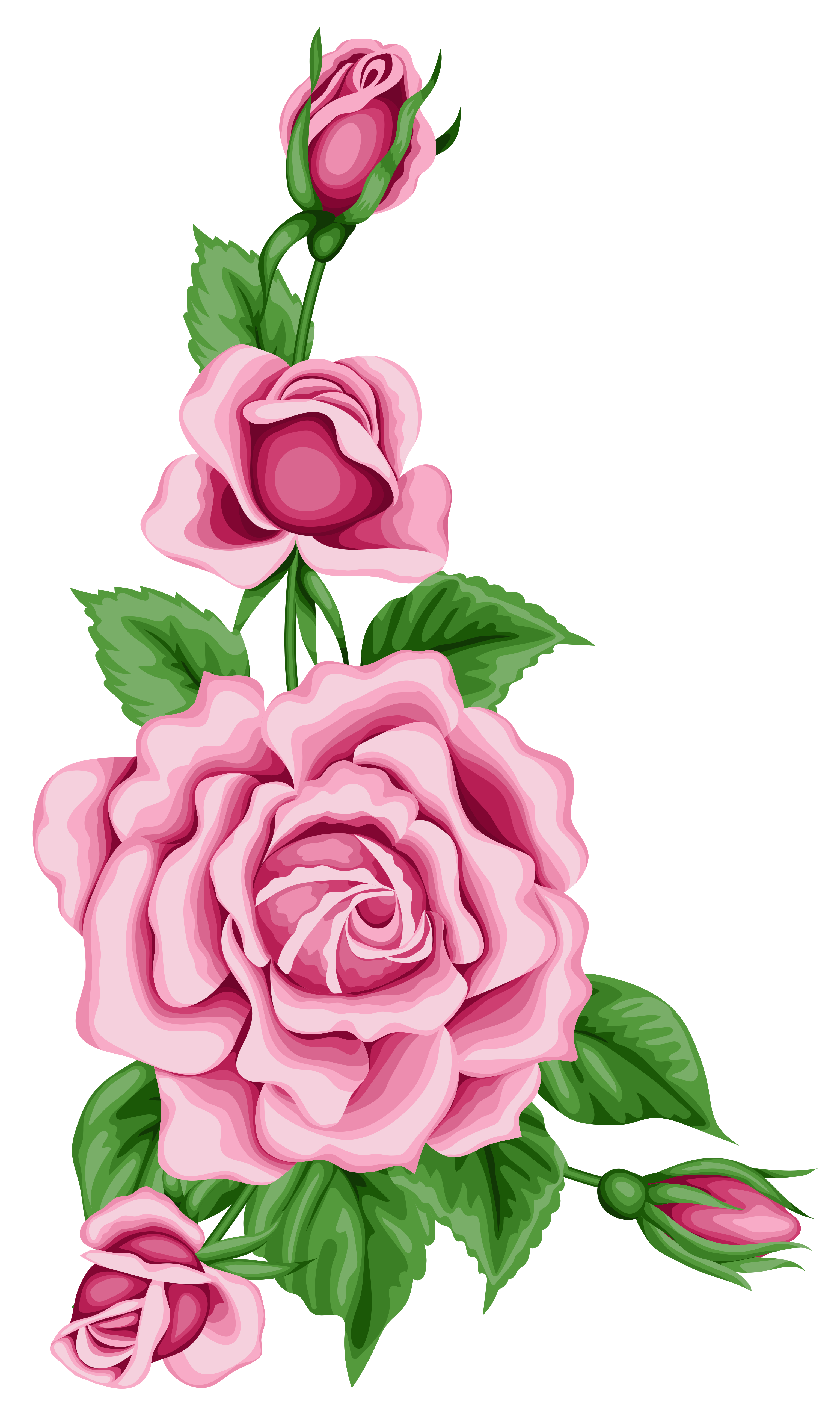 Roses Decoration Png Clipart Image Flower Clipart Digital Flowers Flower Art Painting