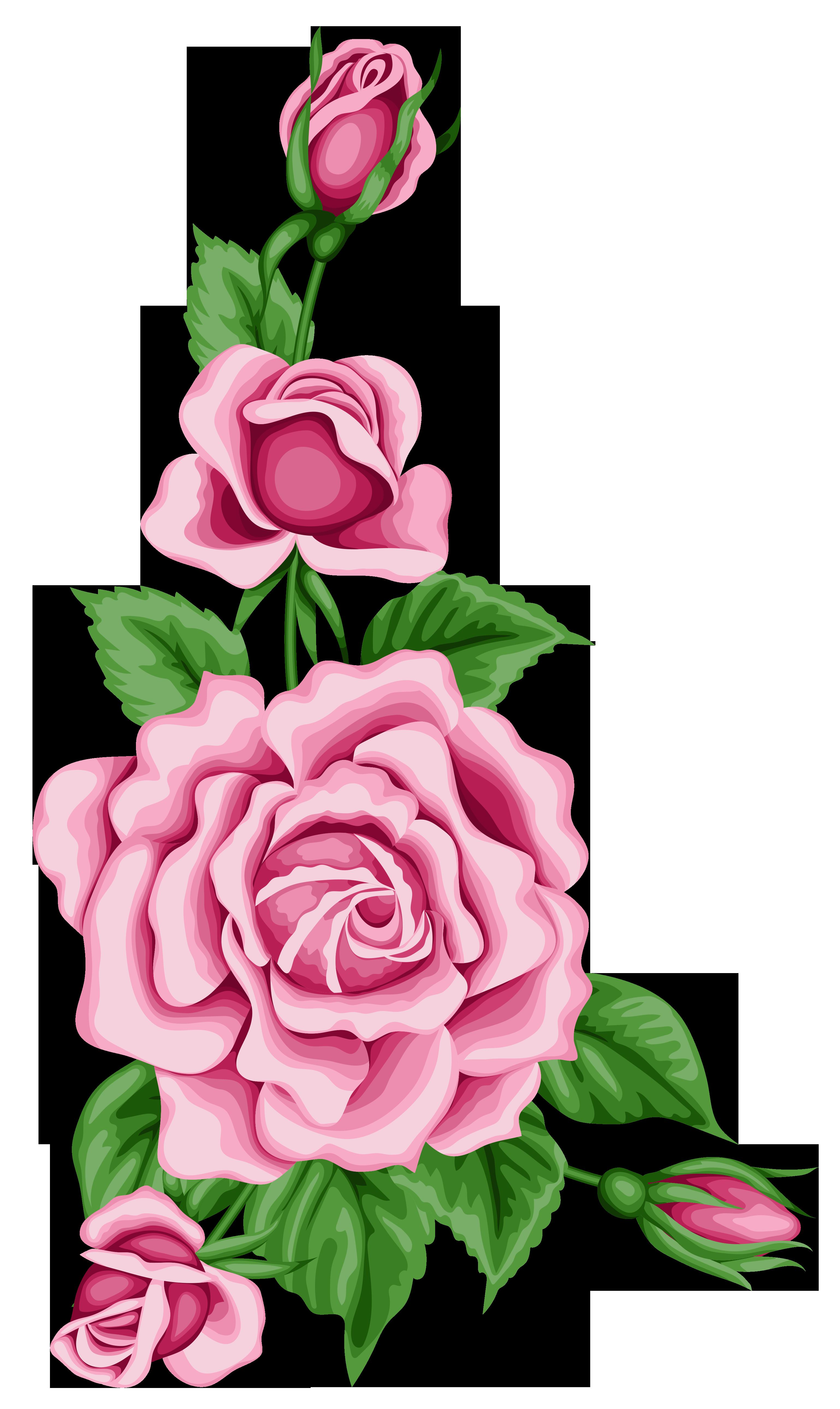 Roses Decoration Png Clipart Image Flower Clipart Flower Painting Flower Art
