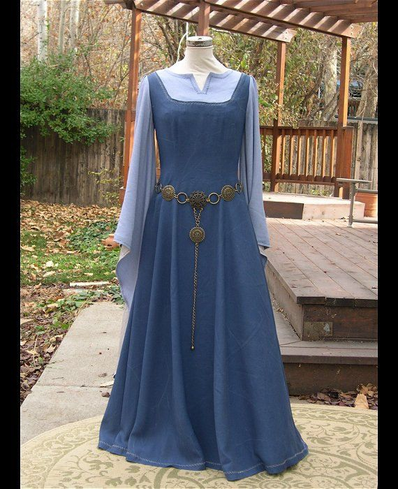 blue periwinkle medieval fantasy elf gown on hold for