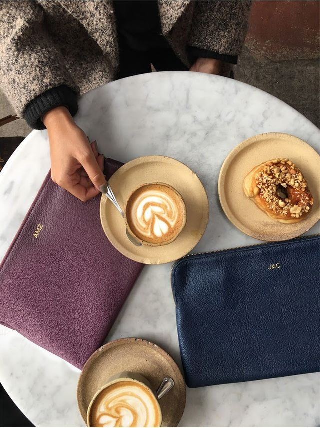 Two things we need on a daily basis: coffee + our Daily Zip Pouch (which is now back in stock!!)