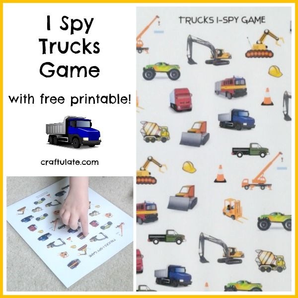 This I Spy Trucks Game is a fun way to occupy kids. Don't