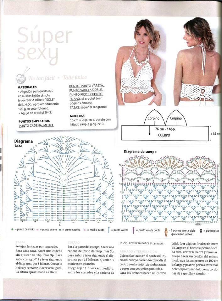 Pin de Luca Igor en crop top | Pinterest | Croché, Ganchillo y Tejidos