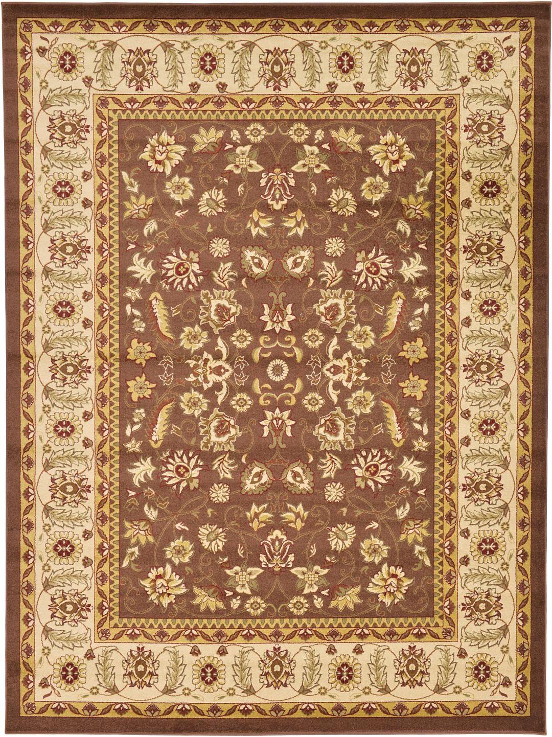 Brown 9' x 12' Kashan Design Rug | Area Rugs | eSaleRugs