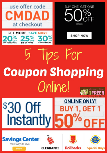 5 Tips For Coupon Shopping Online Shopping Coupons Coupons Saving Money
