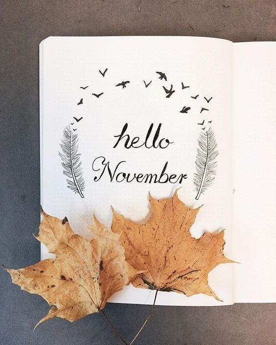 35 Beautiful and Enchanting November Bujo Ideas for Your Bullet Journal -