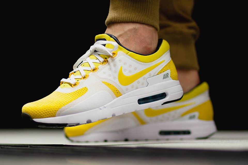 Unstable Fragments Skate Wear Nike Air Max Yellow Sneakers