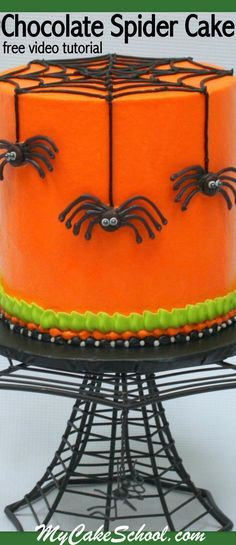 Free Halloween Cake Video Tutorial by MyCakeSchool! Chocolate