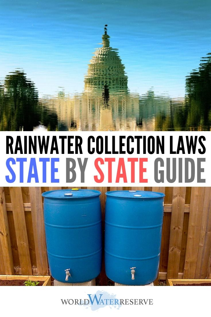 State by State Guide to Rainwater Harvesting Laws Detailed guide on rainwater harvesting laws and legislation in each state Information taken from Congressional and gover...
