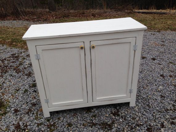 Small Sideboard Buffet Painted Storage Cabinet