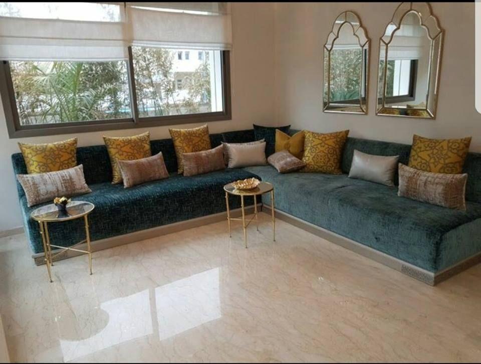 Salon Sejour Marocain Moderne In 2020 Moroccan Living Room Living Room Decor Apartment Home Decor Furniture