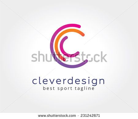 Vector C Circle Ring Logo Design Template Copyright Symbol