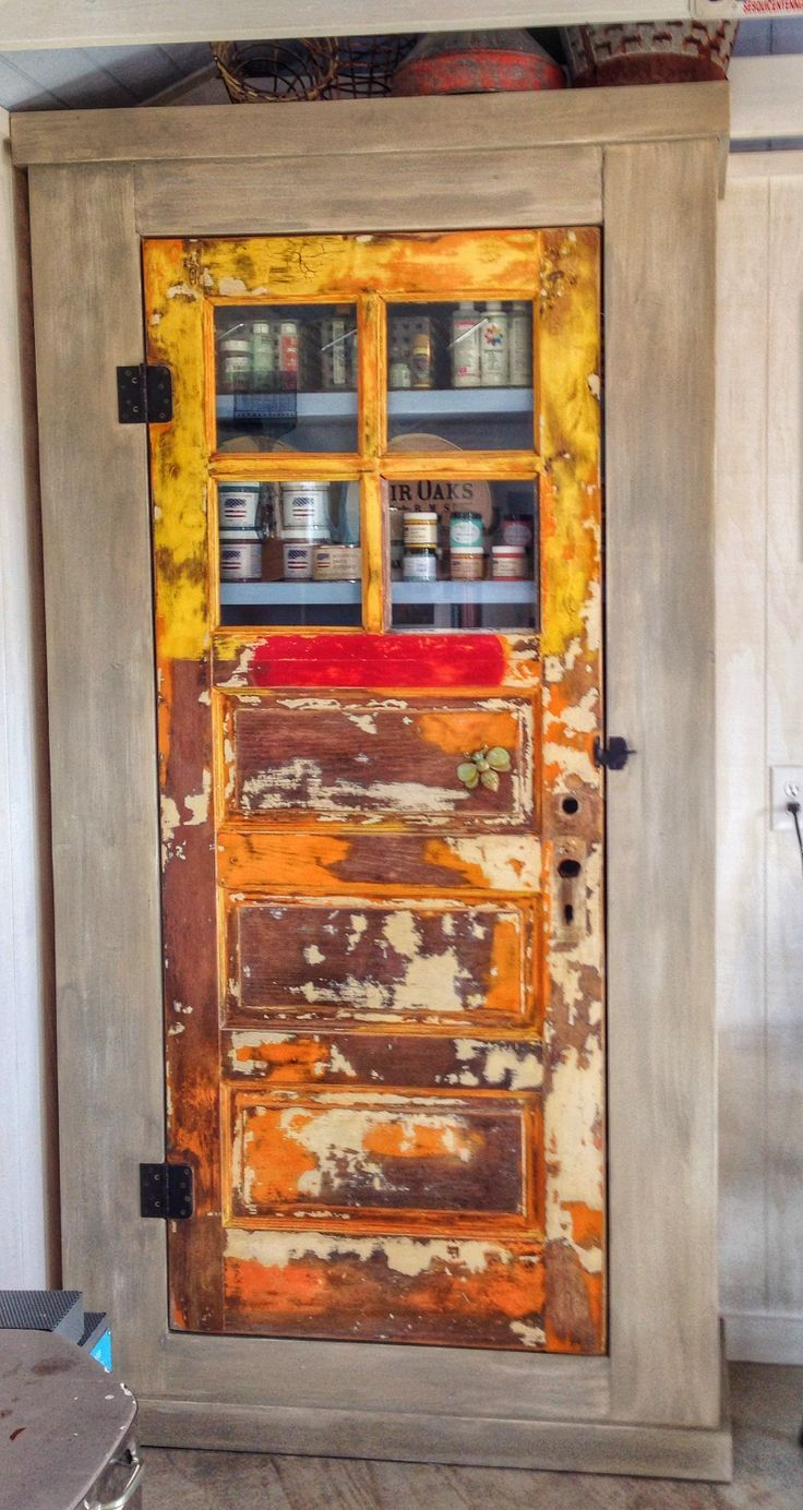 Pinterest China Cabinet Made Out Of Old Doors Storage Cabinet Made