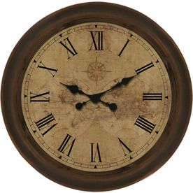 Allen Roth 18 In Old World Oil Rubbed Bronze Clock