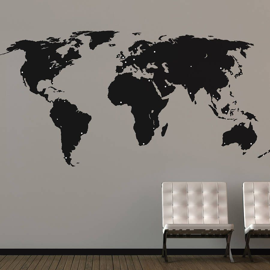 World map wall stickers travel wall world map wall stickers amipublicfo Images