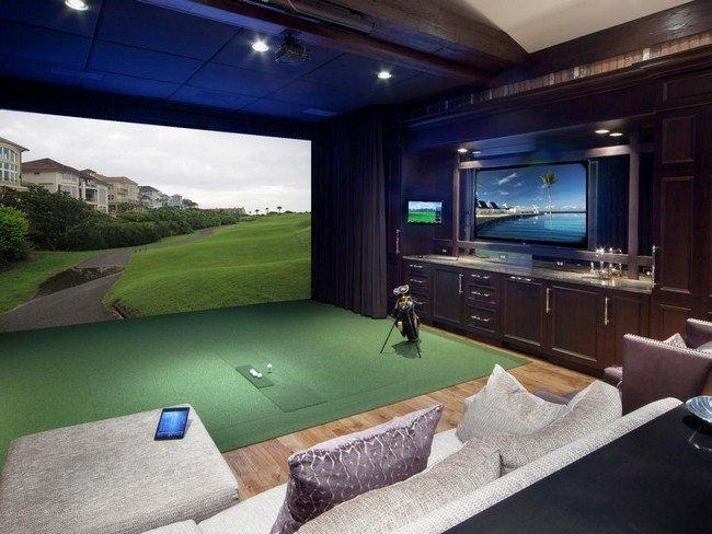 Man Cave Kristan Green : Contemporary game room with wainscoting three posts charlotte
