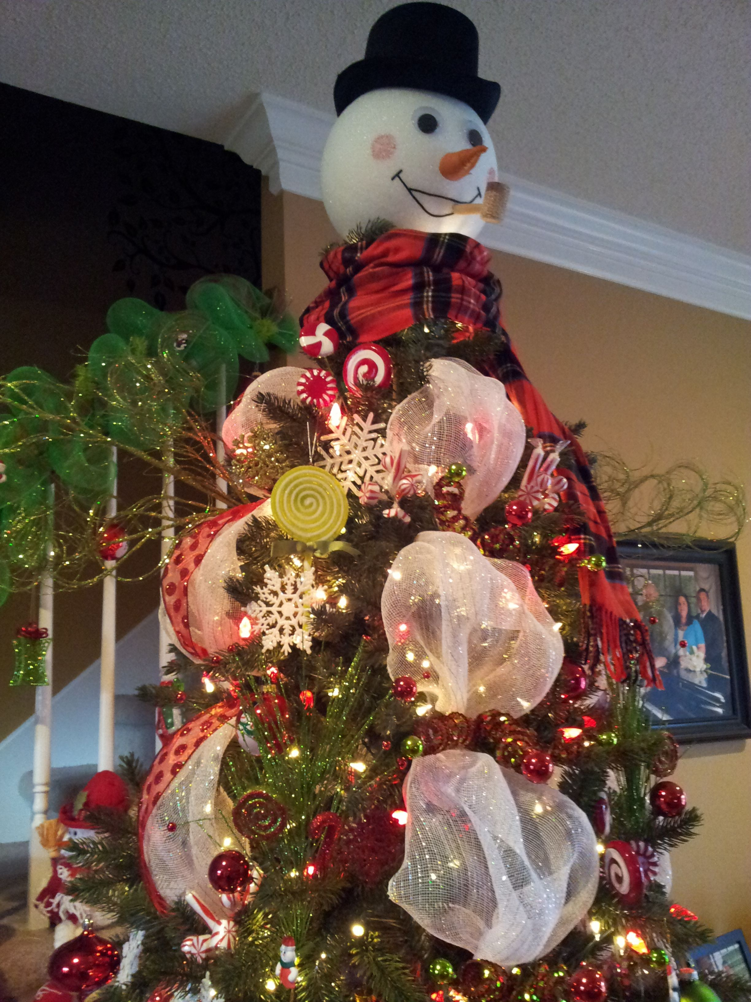 How to make a snowman christmas tree topper - Another Look The Snowman Tree Topper I Made