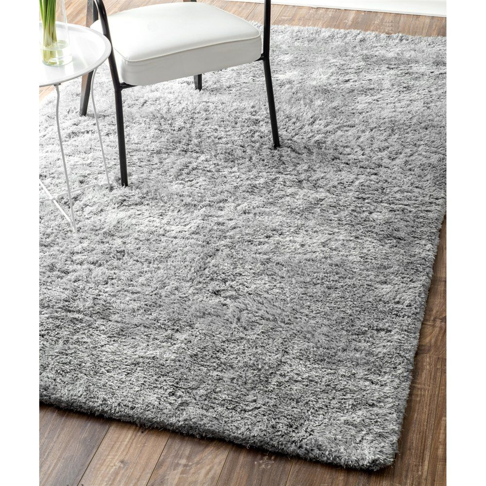 Nuloom Shag Light Grey Hand Tufted Magnifique Area Rug At Lowe S Canada Find Our Selection Of Rugs The Lowest Price Guaranteed With