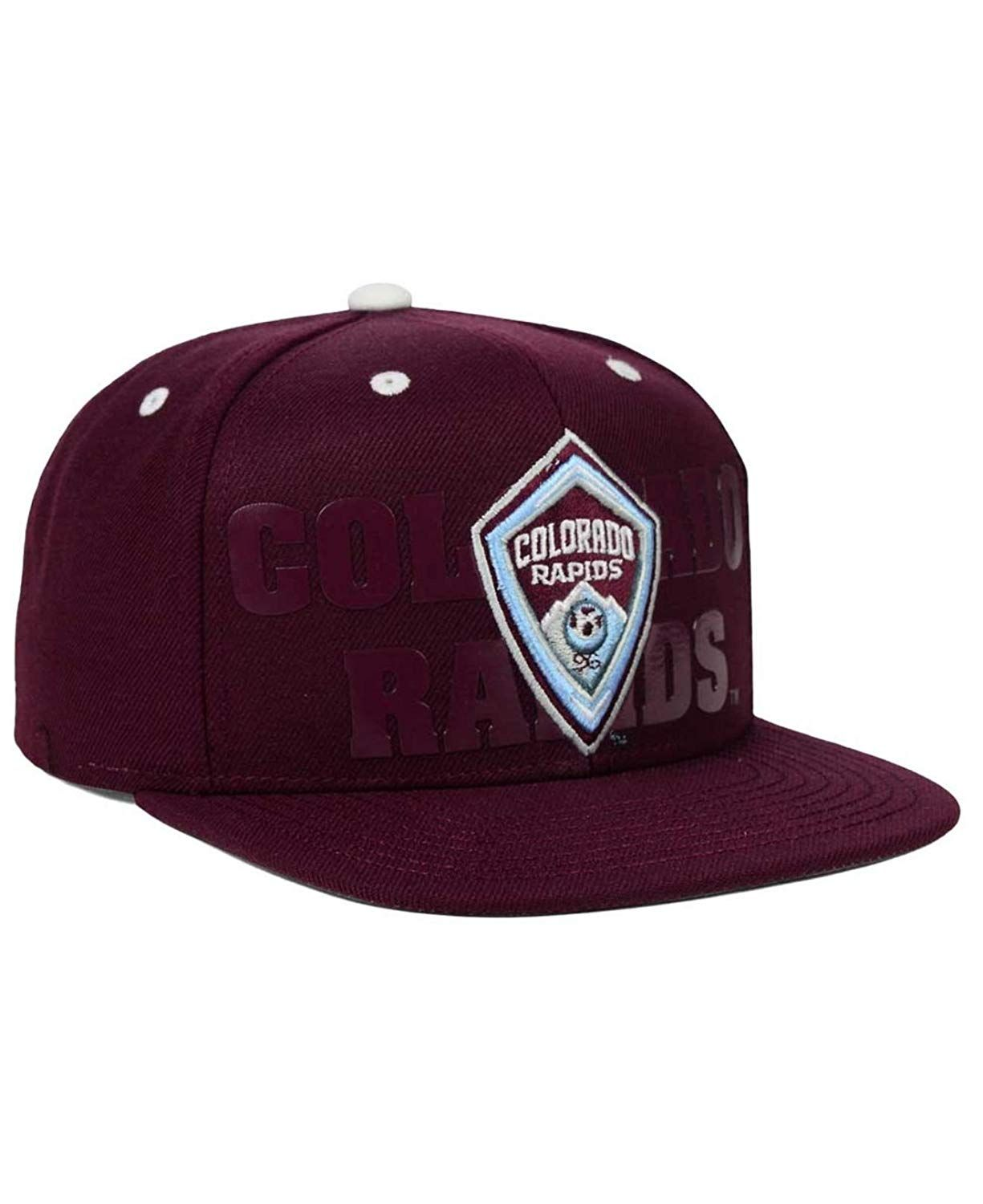 d7dd56023fd76 Outerstuff MLS Colorado Rapids Youth Boys Fan Cuffed Pom Hat