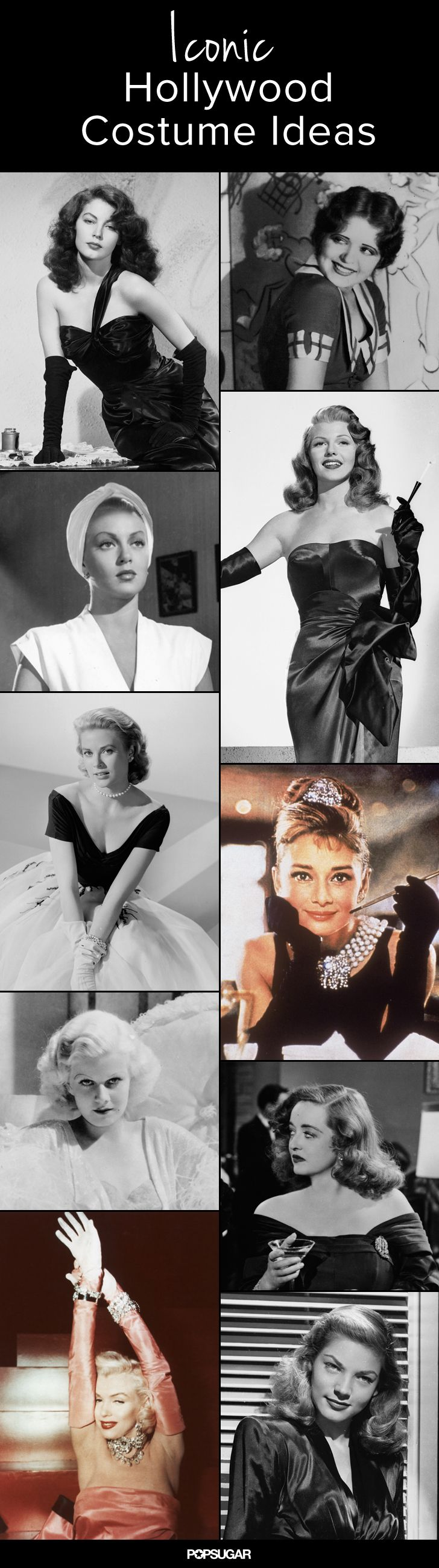iconic old hollywood costumes to class up your halloween. Black Bedroom Furniture Sets. Home Design Ideas