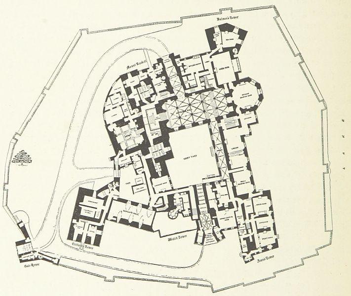 Plan of raby castle 1897 floor plans castles for Castle plans build