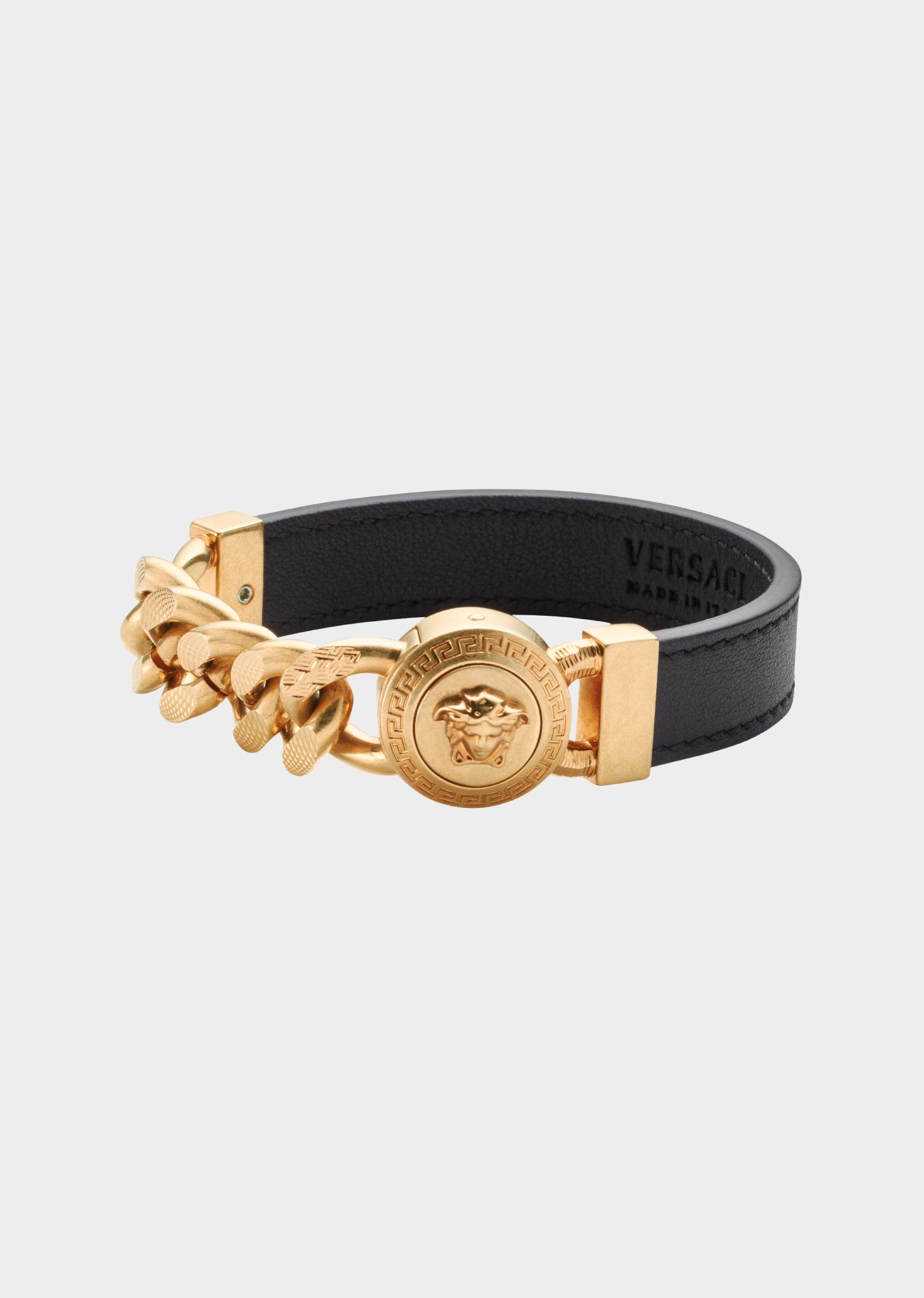 dd8f97df86 Medusa Chain Leather Bracelet for Men | Official Website in 2019 ...