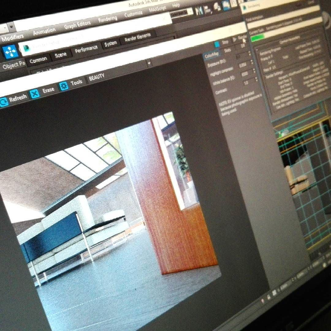 WIP :) #3dsmax #3dmax #UI #interior #interiorrender #door #architecture #minimal #lighting #daylight #render #rendering #coronarender #CG #reflection #visualization #3dsmaxcorona #coronarenderer #رندر #رندرینگ