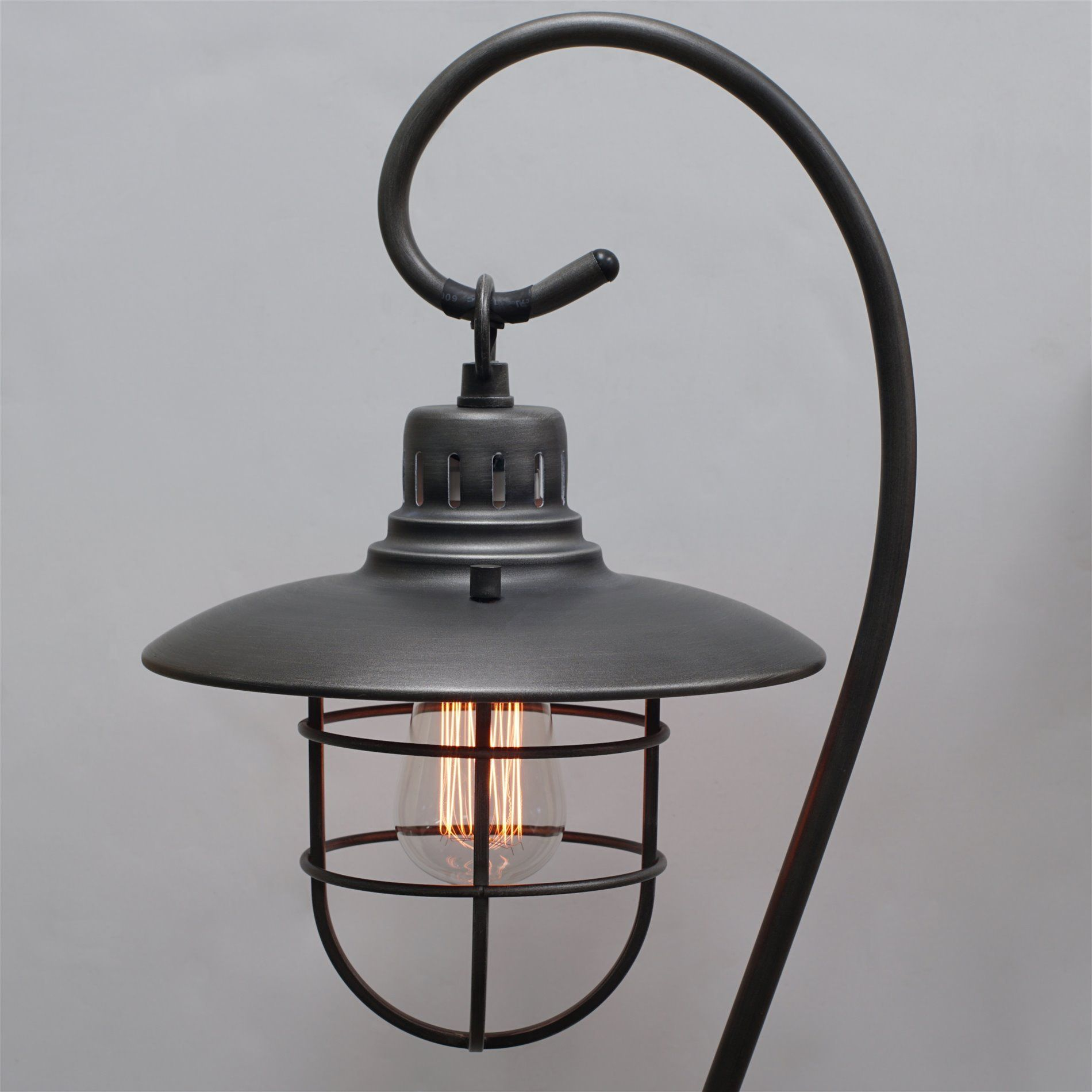 Kira Home Lantern 58 Industrial Floor Lamp Hanging Shade