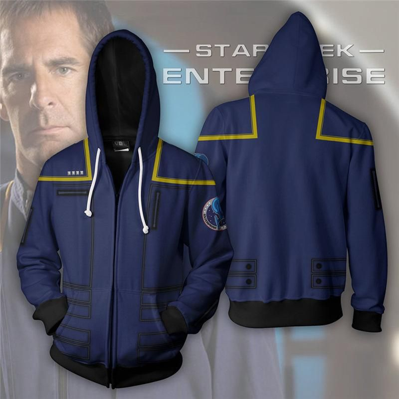 42ee05178f Star Trek Enterprise Suit Up 3D Printed Zip Up Hoodie | New Media 3 ...