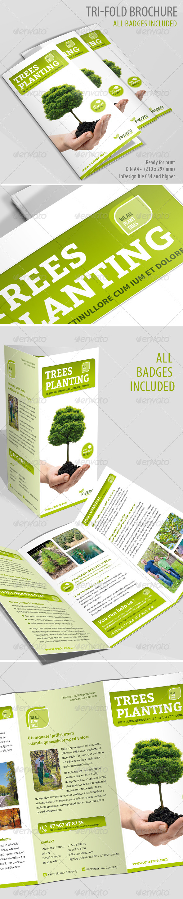 Tree Planting TriFold Brochure GraphicRiver Like this