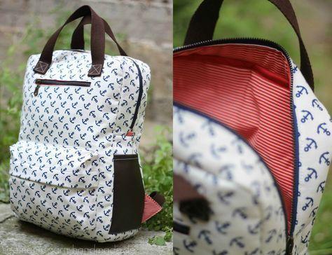 Anker-Rucksack, ahoi! • Vicky Backpack   Pinterest   Nähen ...