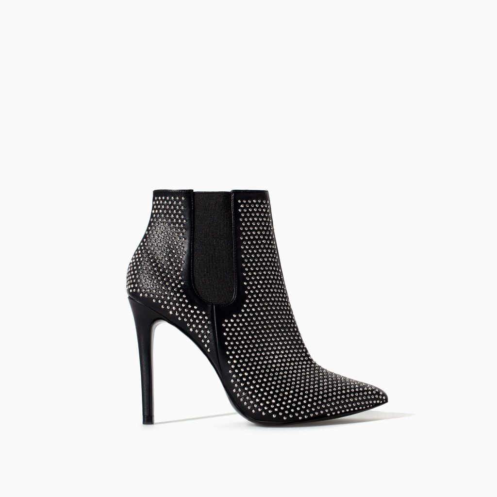 Heeled studded boot Zara s14