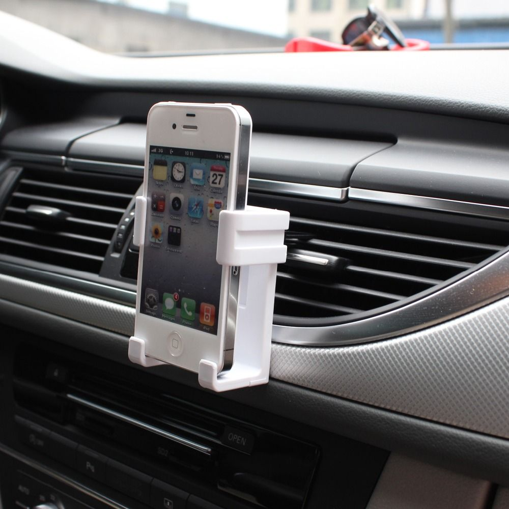 Black Ac Outlet Car Mobile Holder Gps Cellphone Holders Clamp Sucker Phone Automotive Support Mp3 Mp4 Pda Bracket