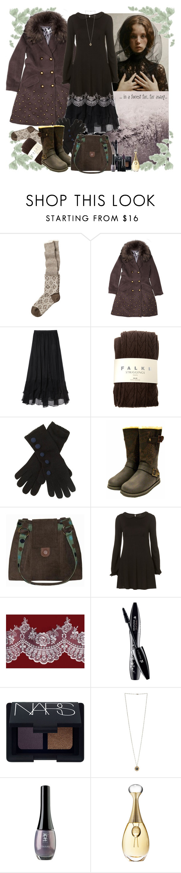 """."" by fieruta ❤ liked on Polyvore featuring Toast, Profondo Rosso, Elizabeth and James, Falke, INDIE HAIR, Lancôme, NARS Cosmetics, Miss Selfridge, Gareth Pugh and Christian Dior"